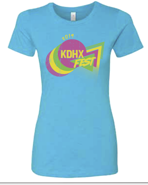 Women's Fitted KDHXFest T-Shirt