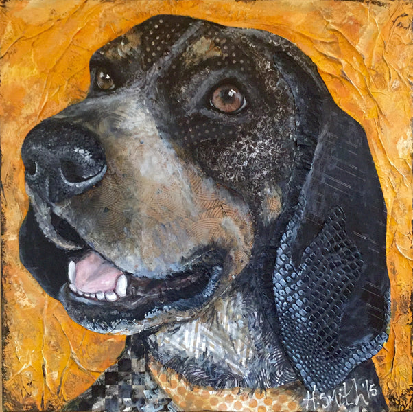 ::Limited Edition Print Bluetick Hound::