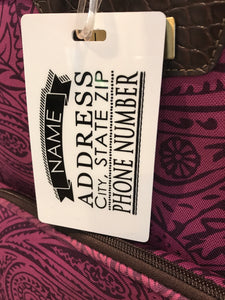 + Luggage Tags