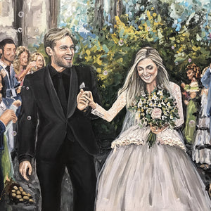 PewDiePie Wedding Painting