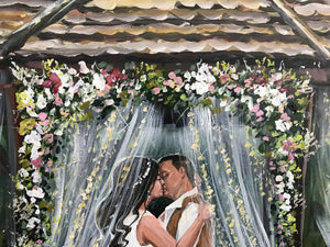 Painting From Wedding Photo - Williams