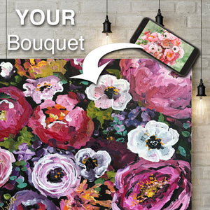 Bridal Bouquet Mini Painting