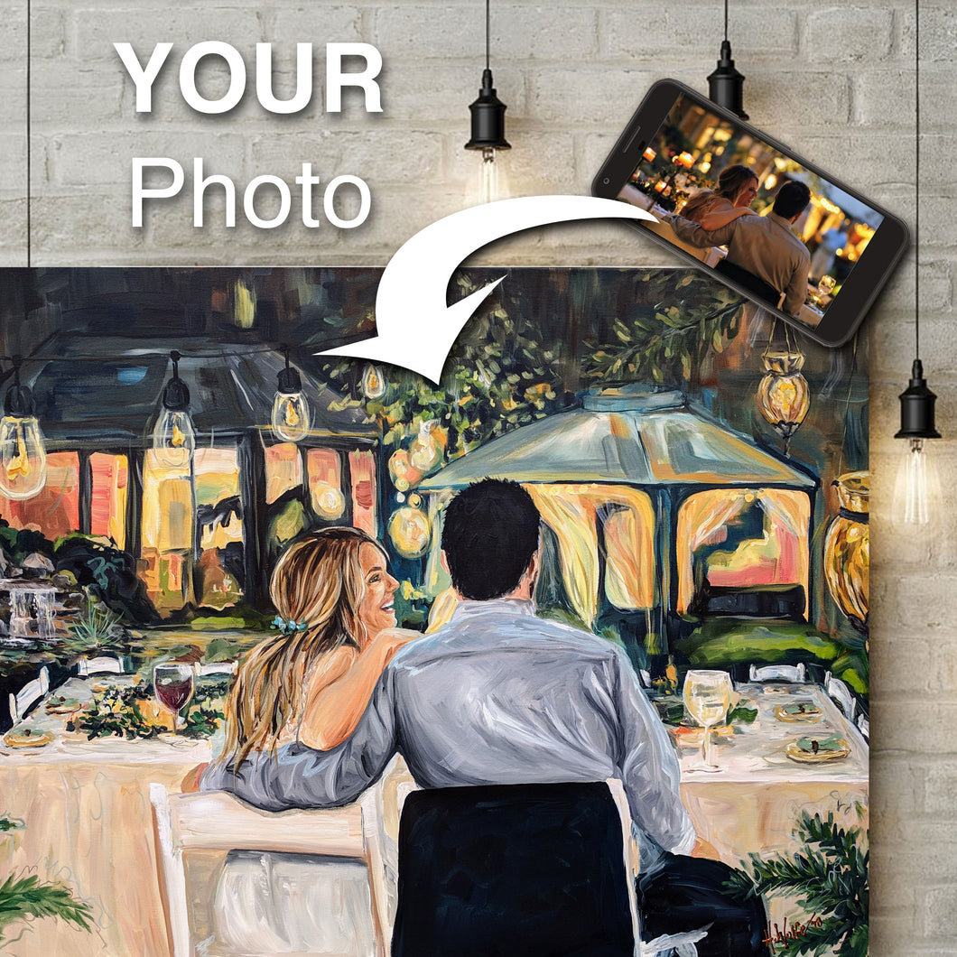 Wedding Painting Custom Portrait from Your Photo