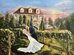 Painting From Wedding Photo - DeMario
