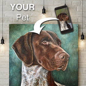 CollageAPet Custom Portrait of Your Pet