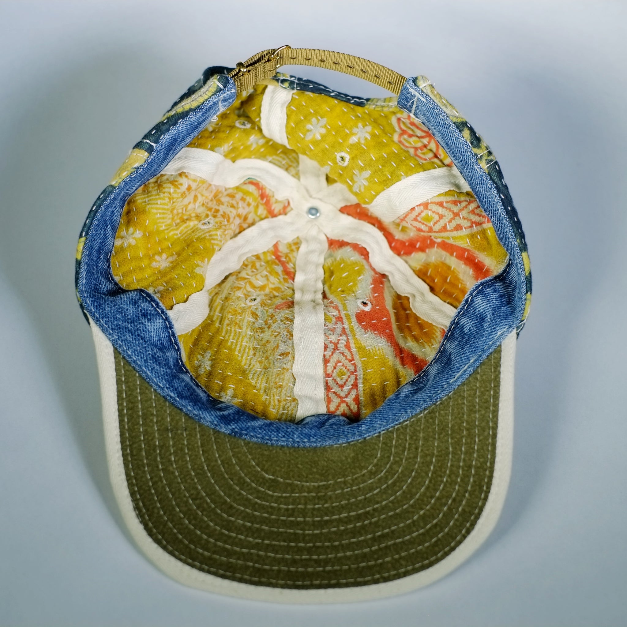 Blue/Gold Kantha Cap