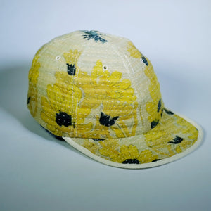 Gold/Blue Kantha Cap