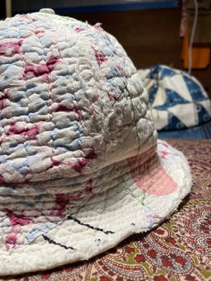 Six Panel Shredded Quilt Bucket Hat