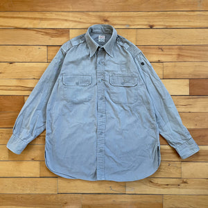 Vintage Creighton Union Made Sanforized Poplin, MENDED