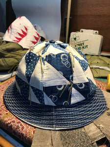Tied Quilt Six Panel Bucket Hat