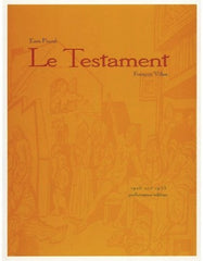 Ezra Pound: Le Testament–Paroles de Villon, Second Evening Art Publishing