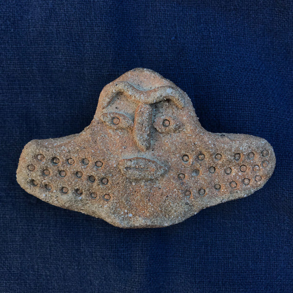 Ancient Face ceramic pin #17
