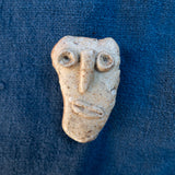 Ancient Face ceramic pin #1