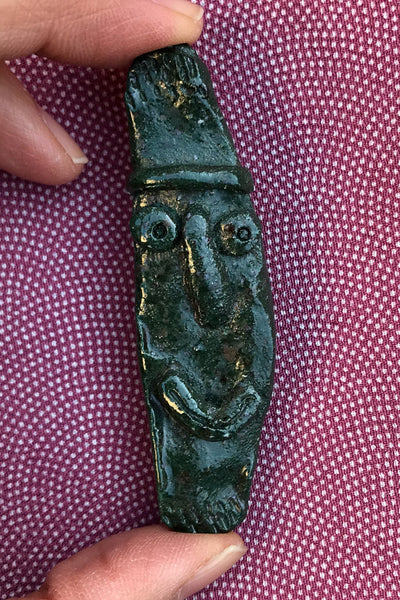 Ancient Face ceramic pin #21