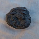 Ancient Face ceramic pin #4