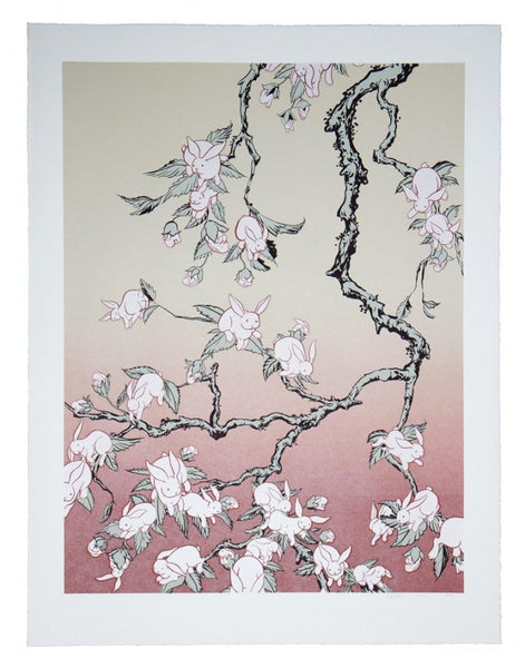 """Bunny Blossom"" limited edition seriograph"