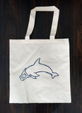 Dolphin Love plain shopping bag