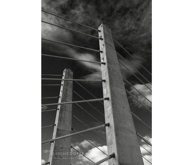 Pitt River Bridge (Vertical B & W)