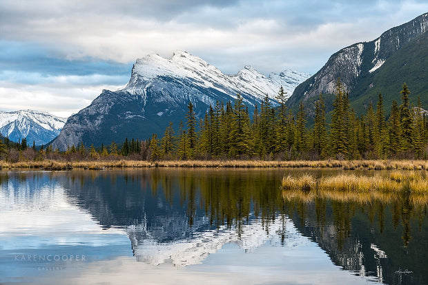 Mt. Rundle Reflections by Karen Cooper Gallery in Vancouver