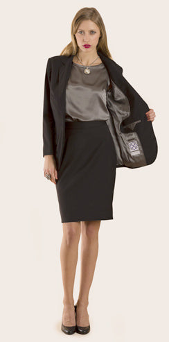 Gurjot New York : Shop the Look : Black with Silver Lining
