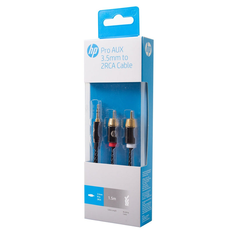 Cable Hp Pro AUX 3.5mm a 2RCA 1,5 mts
