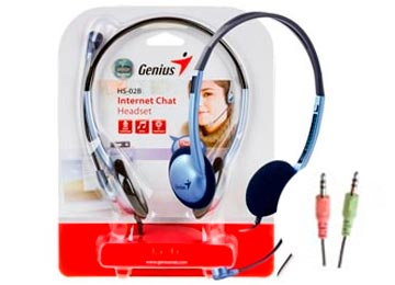 Audifono con microfono Genius HS-02B  (doble plug 3,5mm)