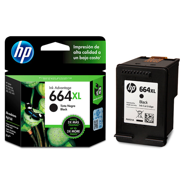 Tinta Catridge Hp 664 Negro XL