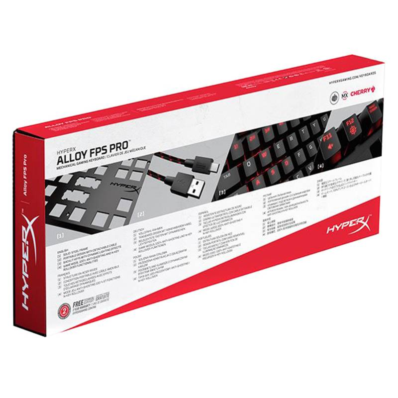 Teclado Gamer Hyperx Alloy FPS Pro mx Cherry mx Red