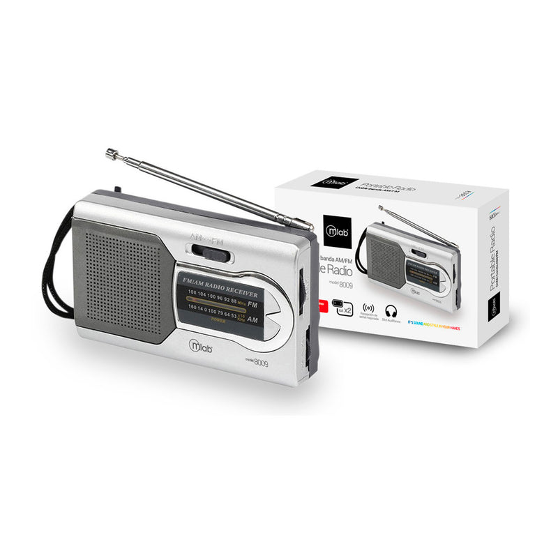 Radio Portable Analoga Horizontal AM/FM Mlab