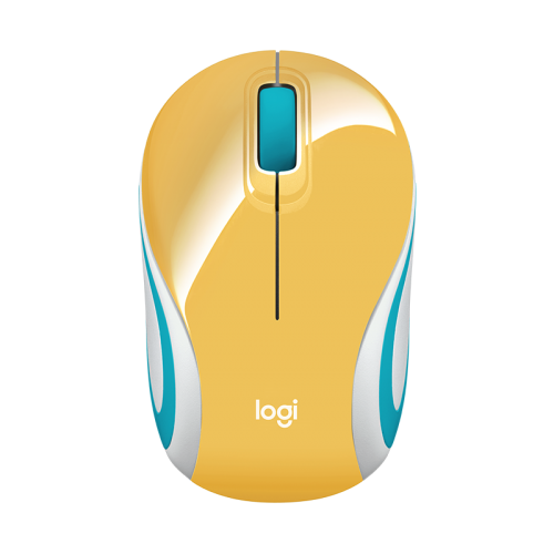 Mouse Mini Inalámbrico Logitech M187 Amarillo