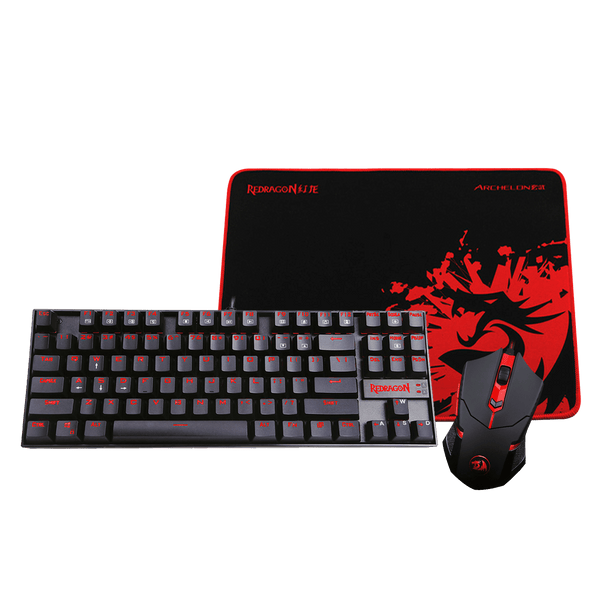 Kit ( Teclado + Padmouse + Mouse ) Gaming Essentials Redragon