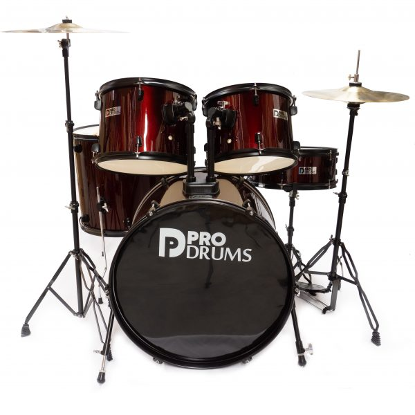 Bateria Pro Drums 5 PIEZAS WINE RED PR004-WR