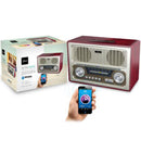 Parlante Retro Radio Wireless Mlab