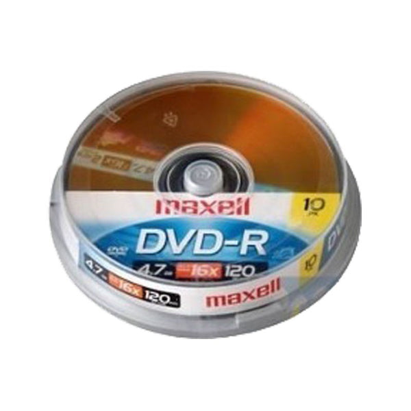 Pack dvd-r 10 unidades Maxell