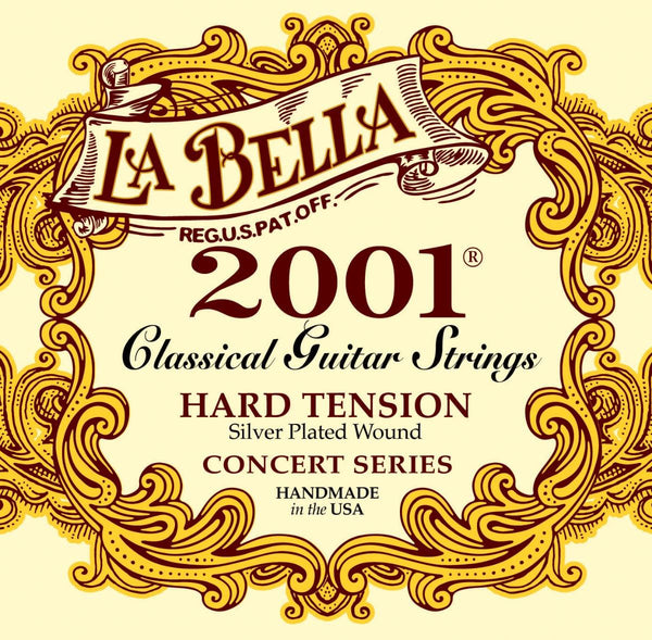 La Bella Set De Cuerdas Para Guitarra 2001 Nylon Hard Tension