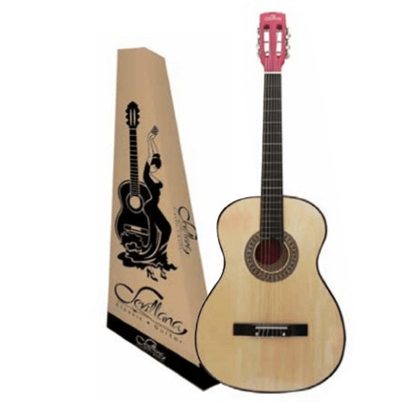 "Guitrra Clasica Acustica Color Natural 38"" Sevillana"