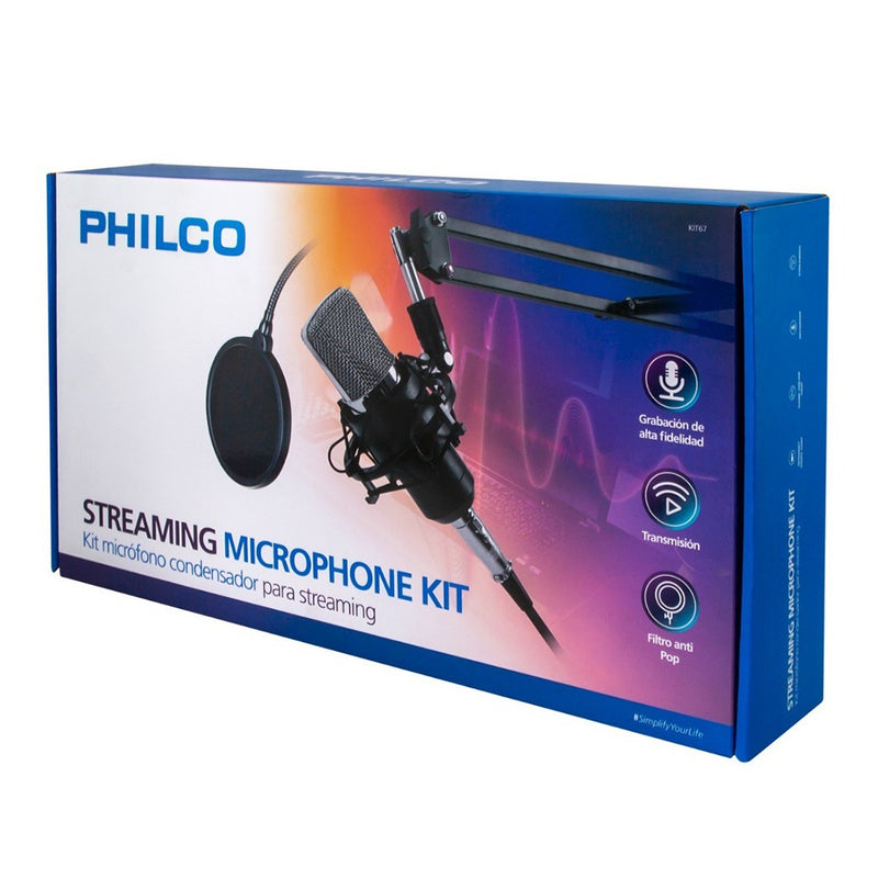 Kit Streaming Micrófono Condensador Philco ( KIT67)