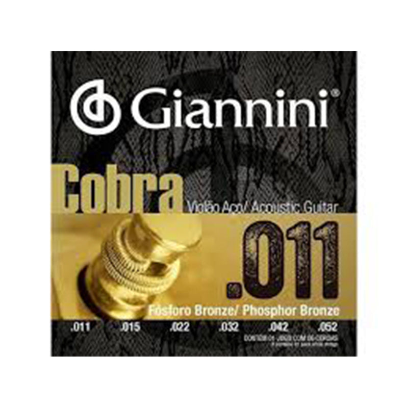 Set De Cuerdas Para Guitarra Cobra Giannini Metal
