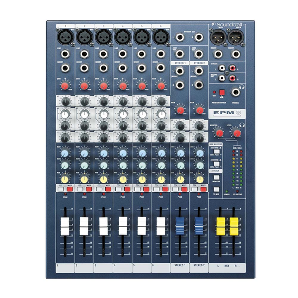 Mesa Mixer Soundcraft 6 Canales ( EPM 6)