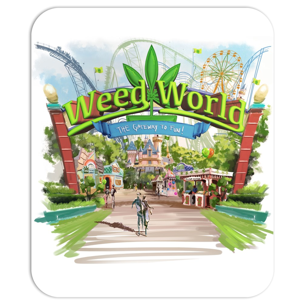 Weed World -  Mousepad