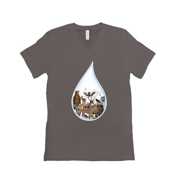 Last Drop: North America - V-Neck T-Shirts