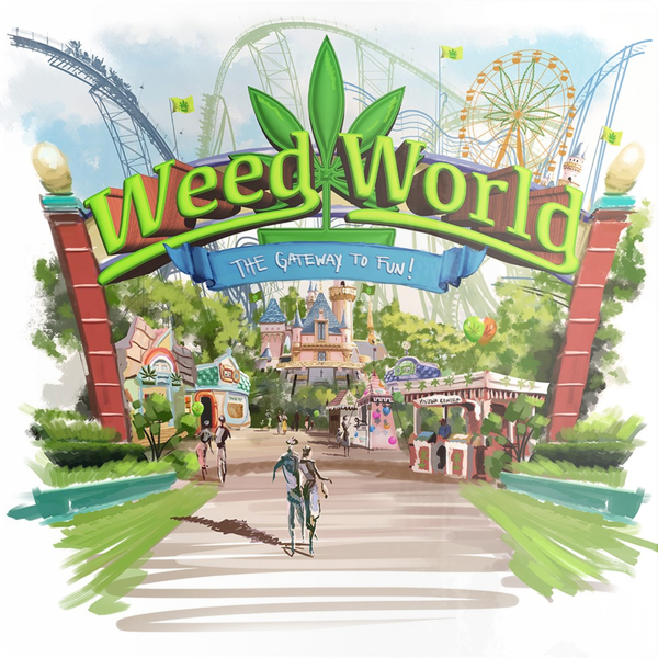 Weed World - Metal Prints