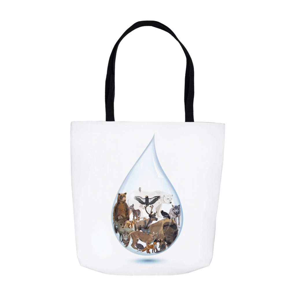 Last Drop: North America - Tote Bags