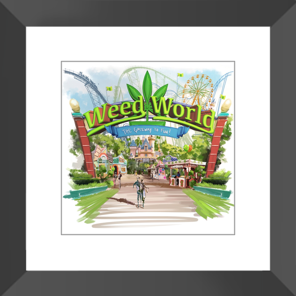 Weed World - Framed Prints