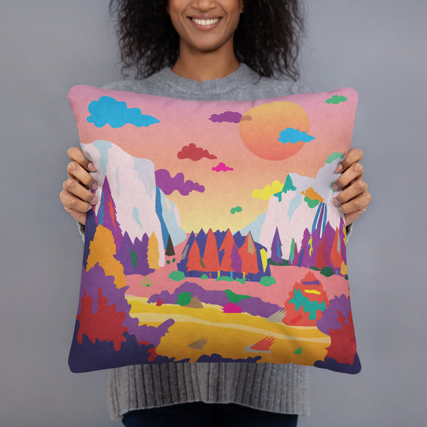 Dreamscape Valley Basic Pillow