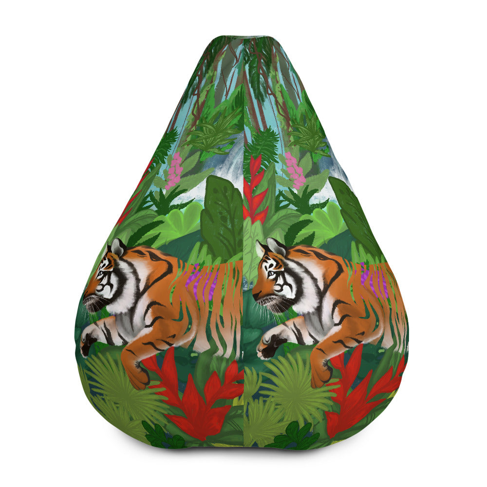 Tiger - All-Over Print Bean Bag Chair w/ filling