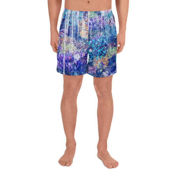 Washed Out - All-Over Print Men's Athletic Long Shorts
