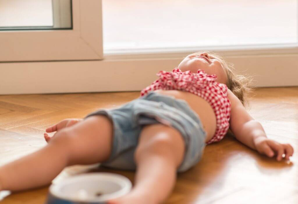 Child having a tantrum