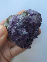 Load image into Gallery viewer, Amethyst Druzy Heart