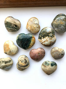 Ocean Jasper Heart - Small and Medium